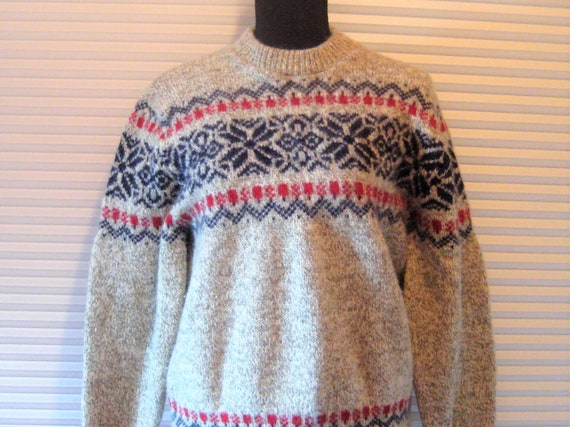 Vintage wool sweater, LL Bean, thick heavy wool p… - image 2