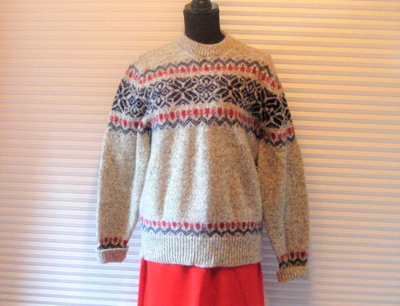 Vintage wool sweater, LL Bean, thick heavy wool p… - image 1