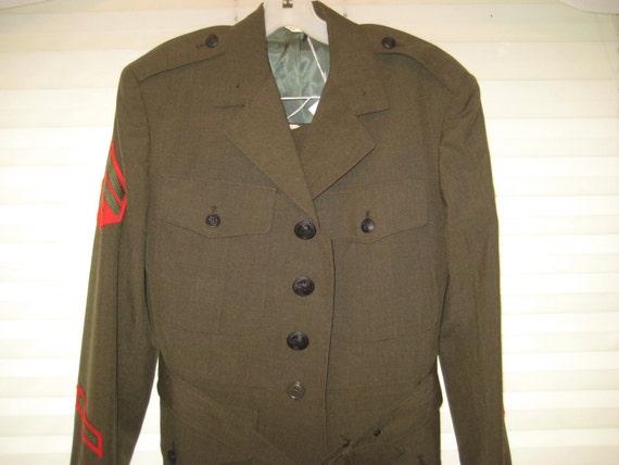 70s military uniform, marine uniform, vintage mili