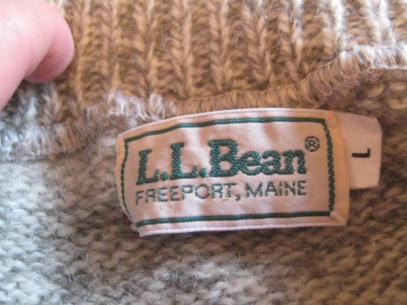 Vintage wool sweater, LL Bean, thick heavy wool p… - image 9
