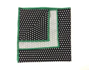 Black and White Polka Dot Pocket Square