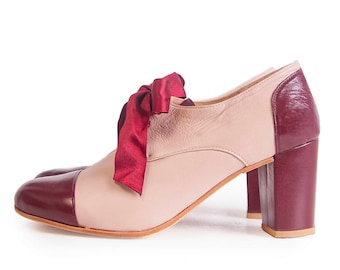 Oxford Soft (hh) - Leahter Oxford shoes in high heel - Handmade in Argentina - Free shipping