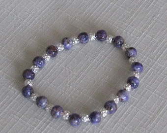 Handmade beads with silver separating beads