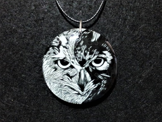 Yin Yang Owl Pendant,Balance,Chinese Symbolism,Owl Jewelry,Bird Necklace, Unique Jewellery, Symbolism, Taoism, Owl Totem, Spirit Animals