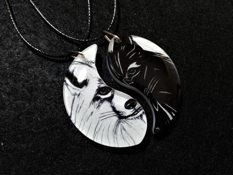 Anniversary Gift Friendship jewelry yin yang Best Friends Fox Friendship Necklaces BFF Jewelry Unisex Gift Animal Jewelry