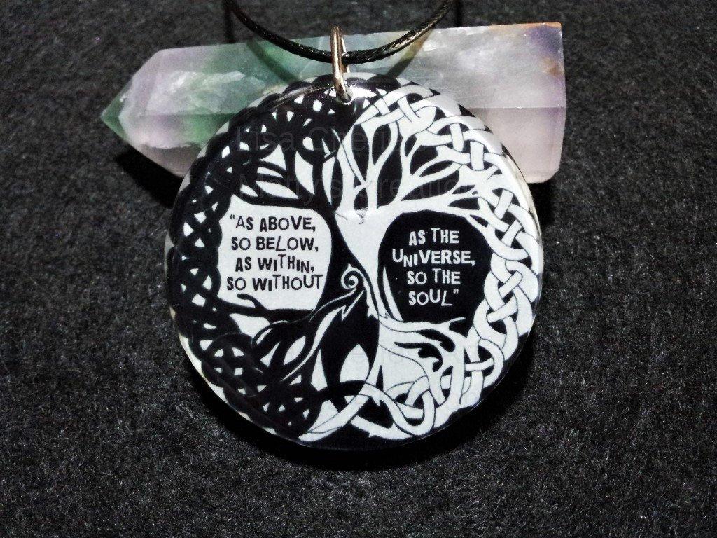 Spiritual Tree Pendant As Above So Below Tree Of Life Yin Etsy