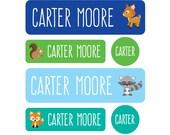 Daycare Labels - Daycare Pack - Set of 60 Labels - Baby bottle labels, School Labels, Dishwasher safe, Woodland Creatures - Pre-made Design