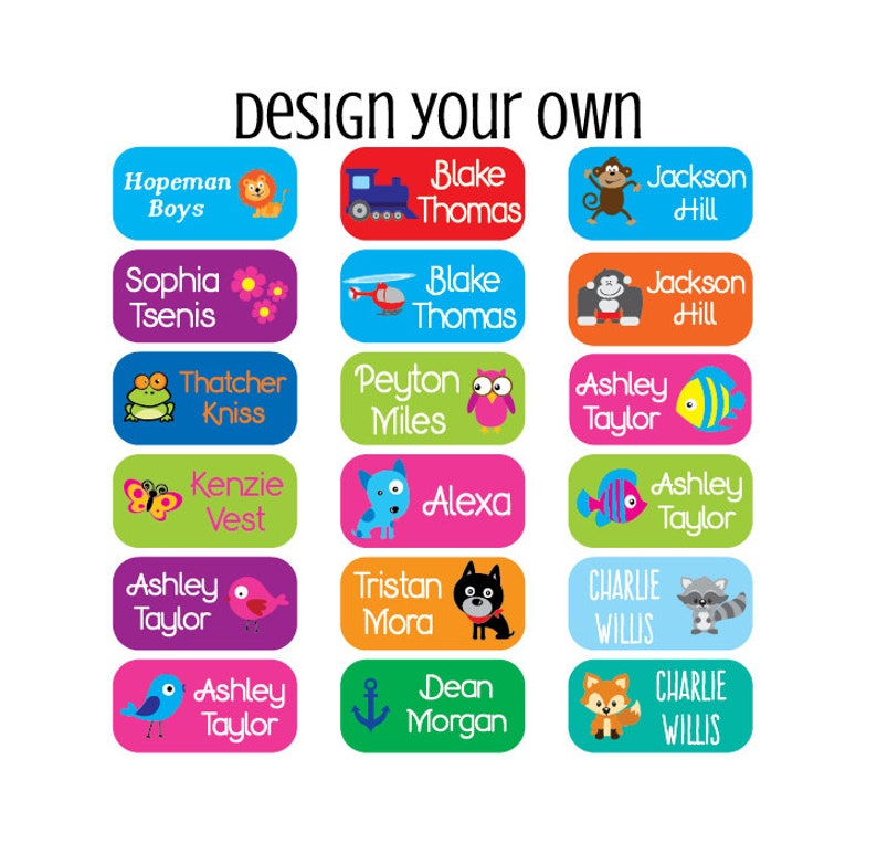 e4372b9cb95a Personalized Clothing Tag Labels - Daycare Clothing Labels - Camp Clothing  Labels - Waterproof Labels - Name Labels - Set of 100