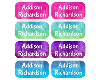 Waterproof Name Labels, Clothing Tag Labels, Camp Labels, Laundry Tag, Care Labels, Laundry Safe, Clothing Tags, Girl Labels, Watercolor