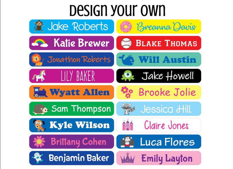 72 School Supply Labels  Waterproof Labels  Personalized image 0