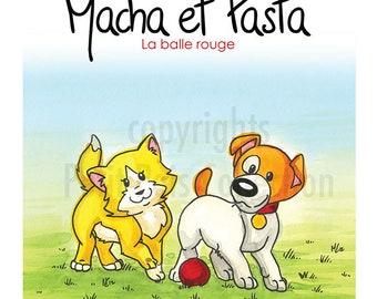 Gift Set Volume 1: Macha et Pasta la balle rouge, children book, children edition and collection