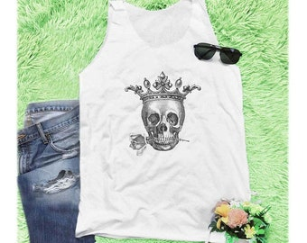 c5cd50d9e Skull Rose Crown Royal shirt skull tank top graphic tank top tumblr quote  tank women tank top unisex off-white shirt tunic tank size S M L