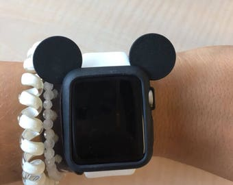 f3913ffee Mickey Mouse Ears. Mickey Mouse Apple Watch Ears. Apple Watch. Mickey Ears. Mickey  Watch. Disney Ears. Disney Watch. Silicone