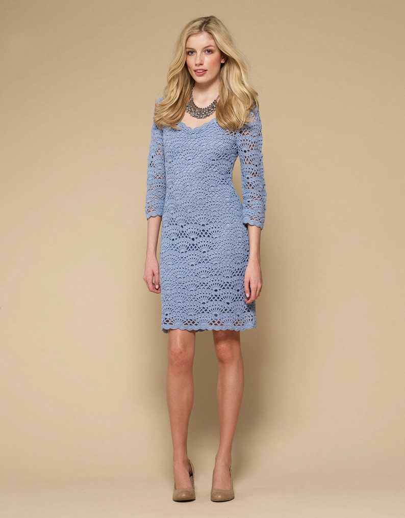 CROCHET FASHION TRENDS exclusive crochet dress  made to order image 0