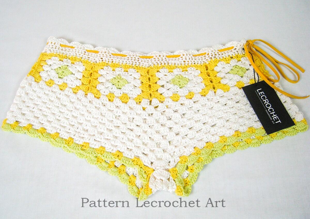 Ganchillo patrón shorts de verano playa de las mujeres patrón | Etsy
