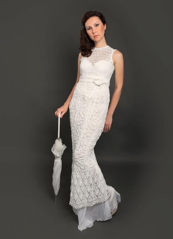 Exklusive lange häkeln Brautkleid das fertige Produkt in | Etsy
