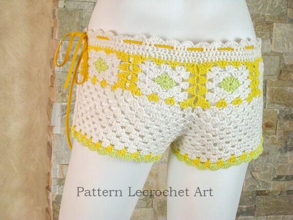 Womens Strand Shorts Muster häkeln Muster Strand Shorts | Etsy