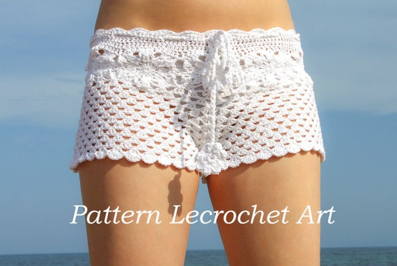 Crochet Pattern White Beach Shorts And Shorts Color Of Summer Etsy