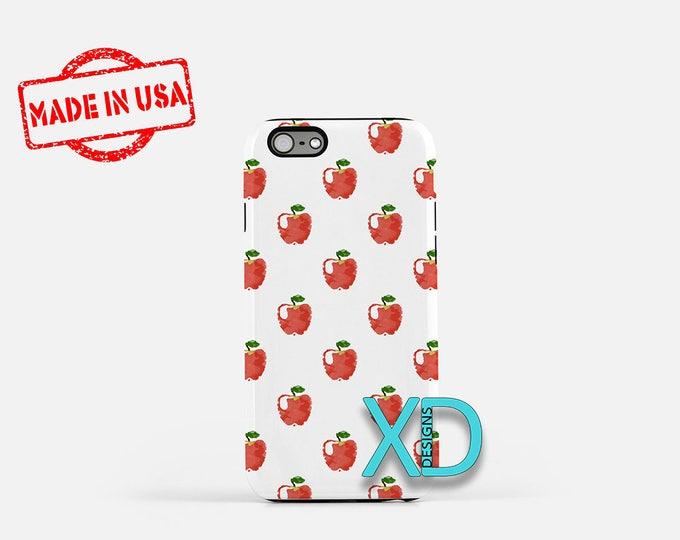 Apple Phone Case, Apple iPhone Case, Fruit iPhone 7 Case, Red, Fruit iPhone 8 Case, Apple Tough Case, Clear Case, Juicy, An Apple A Day