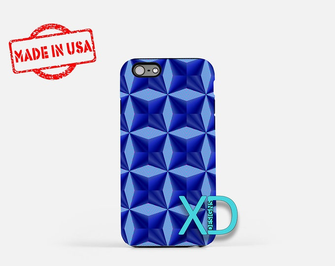 Blue Diamond iPhone Case, Abstract iPhone Case, Diamond iPhone 8 Case, iPhone 6s Case, iPhone 7 Case, Phone Case, iPhone X Case, SE Case