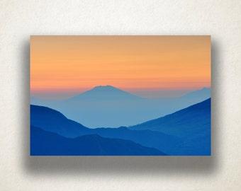 Hillside Terrain Canvas Art Print, Overlapping Hills Wall Art, Hills Canvas Print, Canvas Art, Canvas Print, Home Art, Wall Art