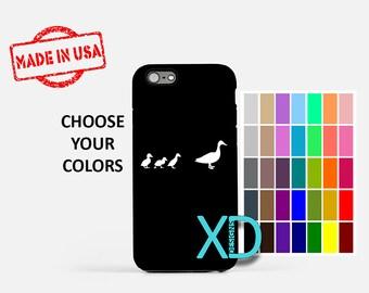 Simple Duck iPhone Case, Ducklings iPhone Case, Duck iPhone 8 Case, iPhone 6s Case, iPhone 7 Case, Phone Case, iPhone X Case, SE Case