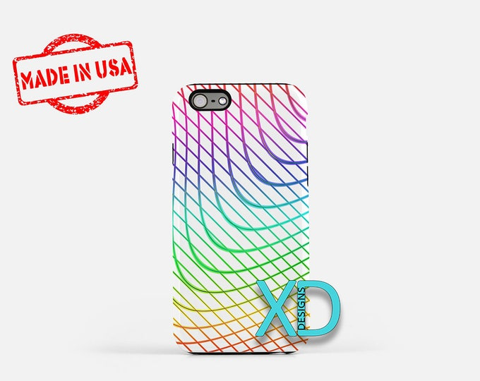 Rainbow Lines iPhone Case, Colorful iPhone Case, Rainbow iPhone 8 Case, iPhone 6s Case, iPhone 7 Case, Phone Case, iPhone X Case, SE Case
