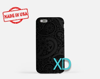 Paisley iPhone Case, Black Paisley iPhone Case, Paisley iPhone 8 Case, Beautiful iPhone Case, iPhone 6s Case, iPhone 7 Case, New iPhone Case