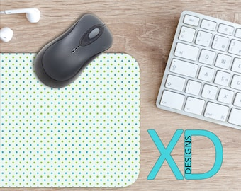 Blue Dot Mouse Pad, Blue Dot Mousepad, Polka Dot Rectangle Mouse Pad, Blue Dot, Polka Dot Circle Mouse Pad, Blue Dot Mat, Computer, Spotty