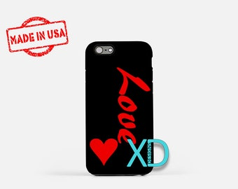Love iPhone Case, Heart iPhone Case, Love and Red Heart iPhone 8 Case, iPhone 6s Case, iPhone 7 Case, Phone Case, iPhone X Case, SE Case