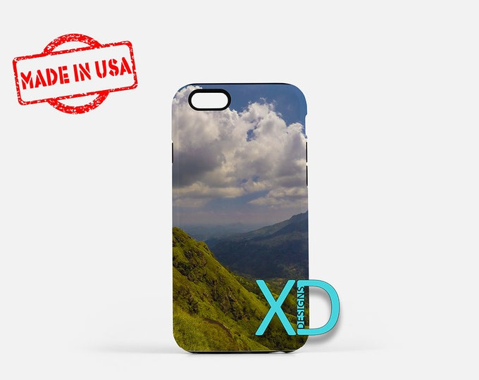Green Mountain iPhone Case, Landscape iPhone Case, Cloud iPhone 8 Case, iPhone 6s Case, iPhone 7 Case, Phone Case, iPhone X Case, SE Case