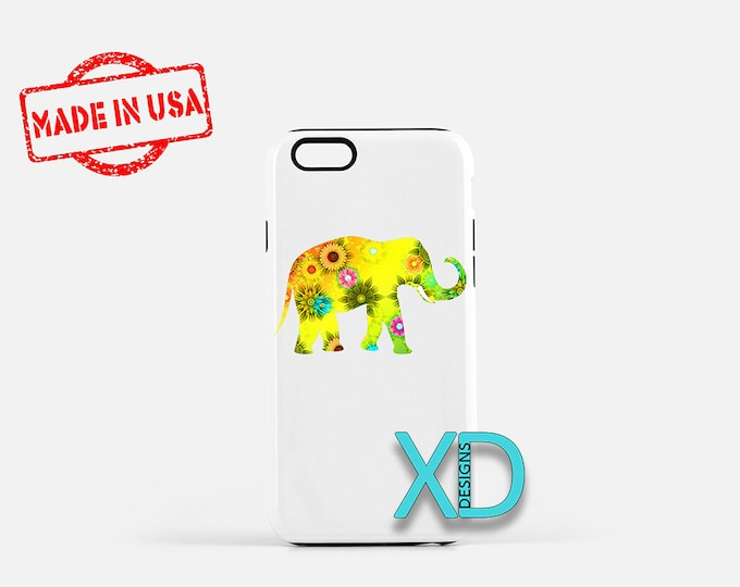 Elephant iPhone Case, Abstract iPhone Case, Elephant iPhone 8 Case, iPhone 6s Case, iPhone 7 Case, Phone Case, iPhone X Case, SE Case New