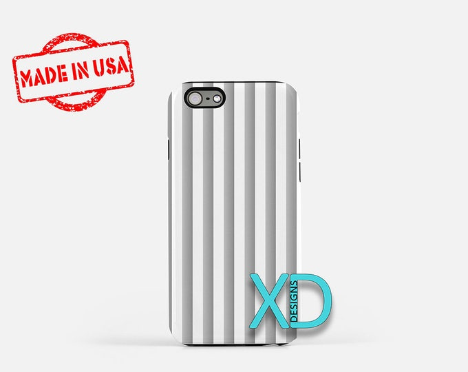 Silver Phone Case, Silver iPhone Case, Vertical Stripe iPhone 7 Case, White, Vertical Stripe iPhone 8 Case, Silver Tough Case, Clear Case