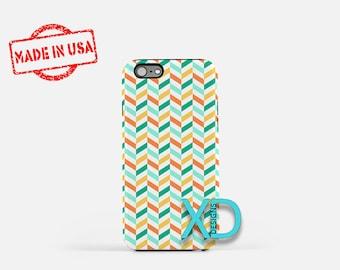 Teal Braid Phone Case, Teal Braid iPhone Case, Fishtail iPhone 7 Case, Orange, Fishtail iPhone 8 Case, Teal Braid Tough Case, Clear Case