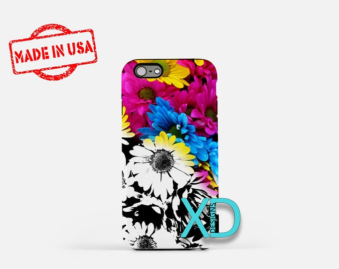 Daisy iPhone Case, Realistic Daisies  iPhone Case, Daisy iPhone 8 Case, iPhone 6s Case, iPhone 7 Case, Phone Case, iPhone X Case, SE Case