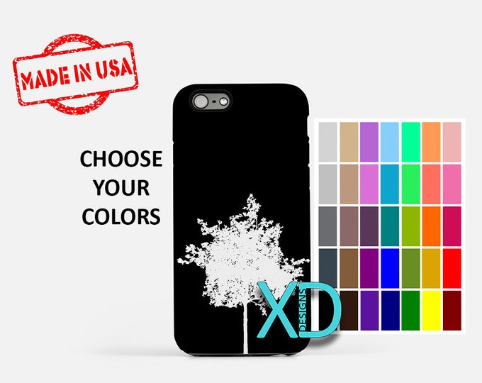 Simple Tree iPhone Case, Wilderness iPhone Case, Tree iPhone 8 Case, iPhone 6s Case, iPhone 7 Case, Phone Case, iPhone X Case, SE Case