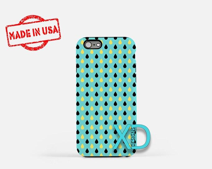 Teardrop Phone Case, Teardrop iPhone Case, Rain iPhone 7 Case, Blue, Rain iPhone 8 Case, Teardrop Tough Case, Clear Case, Drop Pattern