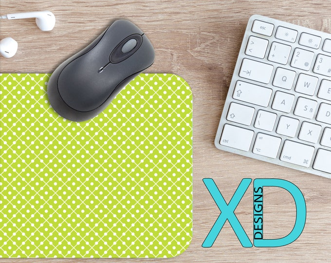 Lime Domino Mouse Pad, Lime Domino Mousepad, Citrus Rectangle Mouse Pad, Yellow, Green, Citrus Circle Mouse Pad, Lime Domino Mat, Computer