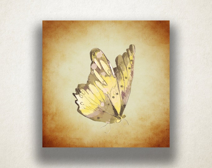 Monarch Butterfly Canvas Art Print, Insect Wall Art, Butterfly Canvas Print, Artistic Wall Art, Canvas Art, Canvas Print, Home Art, Wall Art
