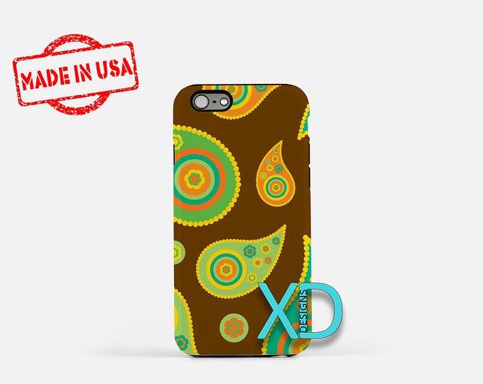 Retro Paisley iPhone Case, Vintage iPhone Case, Paisley iPhone 8 Case, iPhone 6s Case, iPhone 7 Case, Phone Case, iPhone X Case, SE Case