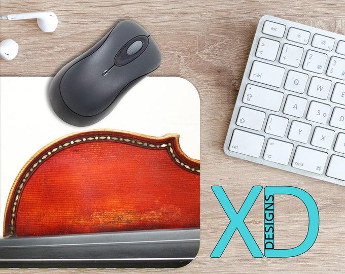 Violin Mouse Pad, Violin Mousepad, Instrument Rectangle Mouse Pad, Brown, Violin Circle Mouse Pad, Instrument Mat, Computer, Music, Band