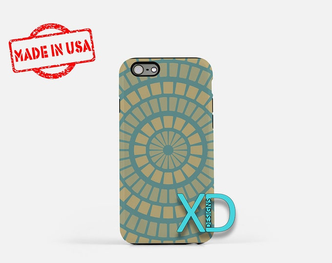 Concentric Design iPhone Case, Teal iPhone Case, Circle iPhone 8 Case, iPhone 6s Case, iPhone 7 Case, Phone Case, iPhone X Case, SE Case