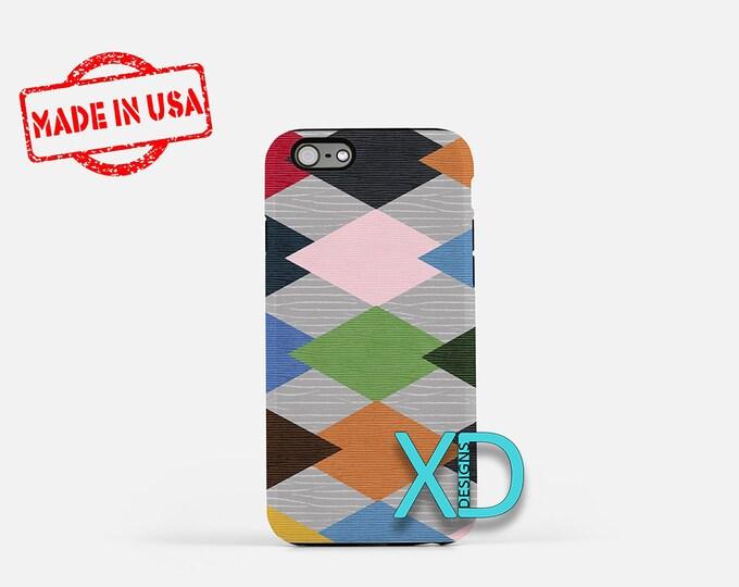 Argyle Diamond iPhone Case, Argyle iPhone Case, Argyle iPhone 8 Case, iPhone 6s Case, iPhone 7 Case, Phone Case, iPhone X Case, SE Case