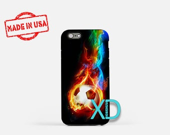 Soccer Ball Phone Case, Soccer Ball iPhone Case, Futbol iPhone 7 Case, Multicolor, Futbol iPhone 8 Case, Soccer Ball Tough Case, Clear Case