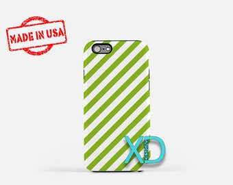Green Candy Cane iPhone Case, Green iPhone Case, Candy Cane iPhone 8 Case, iPhone 6s Case, iPhone 7 Case, Phone Case, iPhone X Case, SE Case