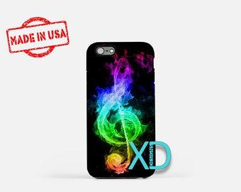 Music Note iPhone Case, Rainbow iPhone Case, Music Note iPhone 6 Case, iPhone 6s Case, iPhone 7 Case, Phone Case, Safe Case, SE Case