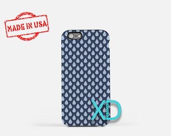 Rain Drop Phone Case, Rain Drop iPhone Case, Droplet iPhone 7 Case, Blue, Droplet iPhone 8 Case, Rain Drop Tough Case, Clear Case, Dripping