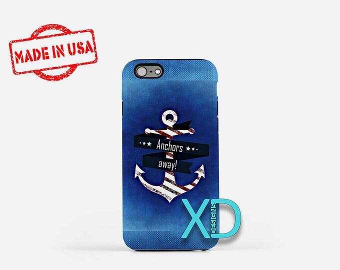 Anchor iPhone Case, Nautical iPhone Case, Anchor iPhone 8 Case, Anchors Away, iPhone 6s Case, iPhone 5s Case, Phone Case, Safe Case, SE Case