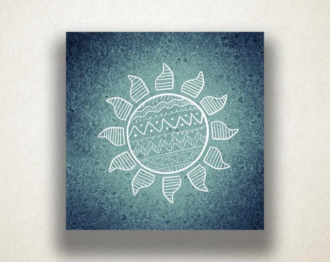 Abstract Sun Drawing Canvas Art Print, Sun Design Wall Art, Canvas Print, Artistic Wall Art, Canvas Art, Canvas Print, Home Art, Wall Art