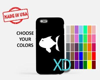 Simple Fish iPhone Case, Cartoon Fish iPhone Case, Fish iPhone 8 Case, iPhone 6s Case, iPhone 7 Case, Phone Case, iPhone X Case, SE Case